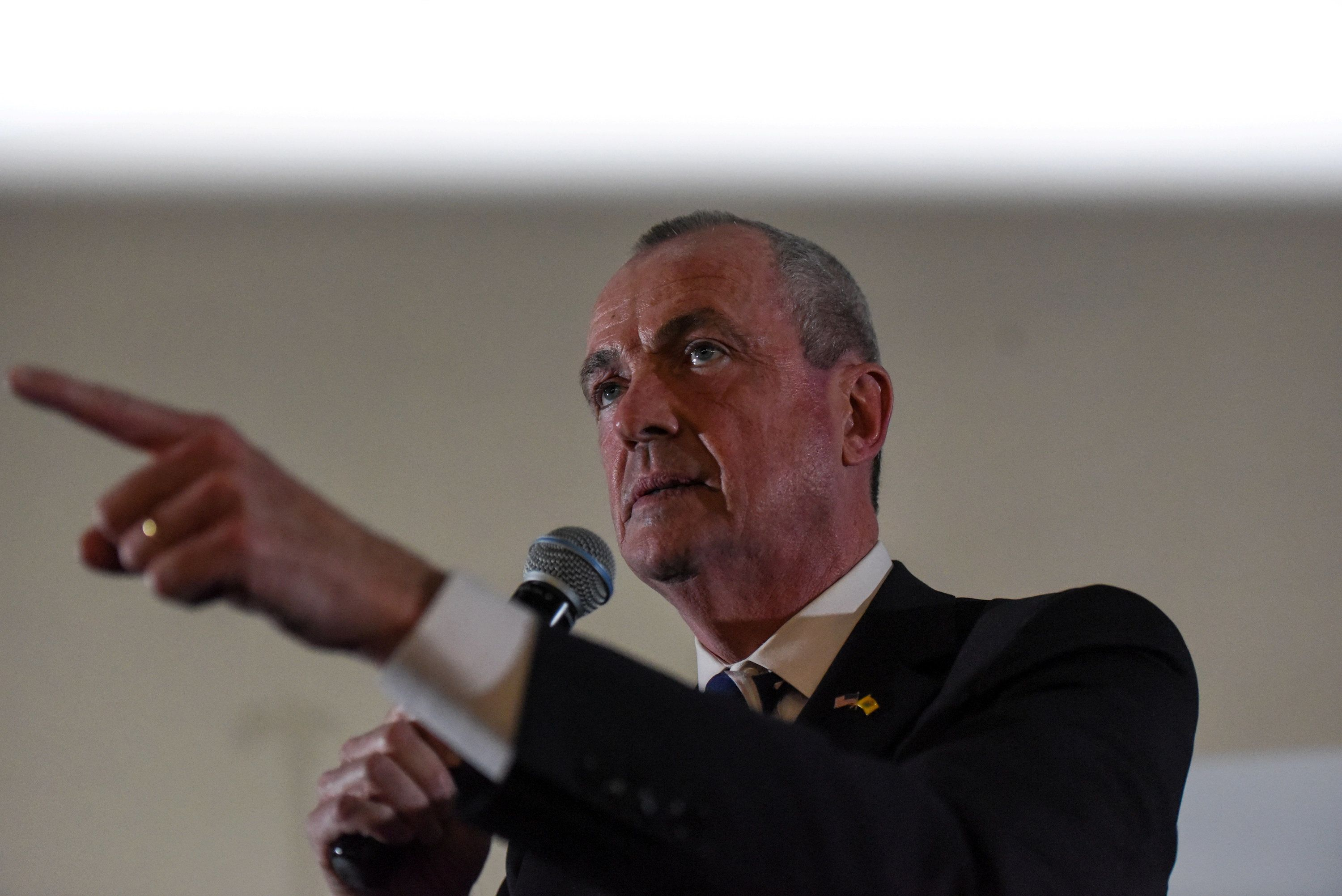 Phil Murphy, a candidate for governor of New Jersey, speaks during the First Stand Rally in Newark, New Jersey, on Jan. 15.
