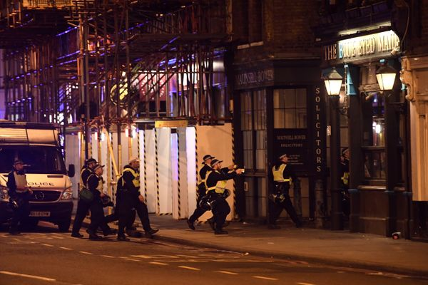 Armed police raid The Blue Eyed Maid in Borough high street