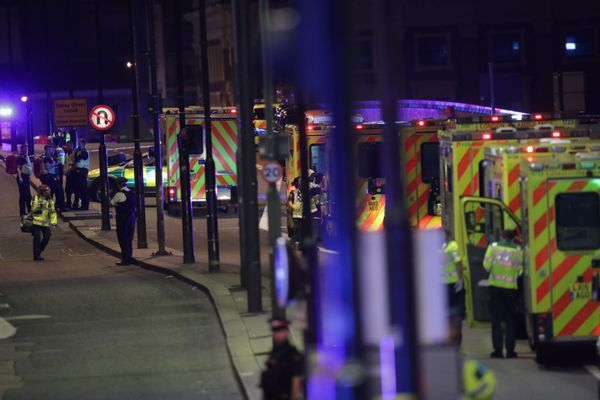 Emergency personnel on London Bridge