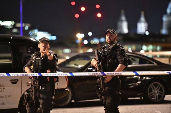 Armed Police officers on London Bridge