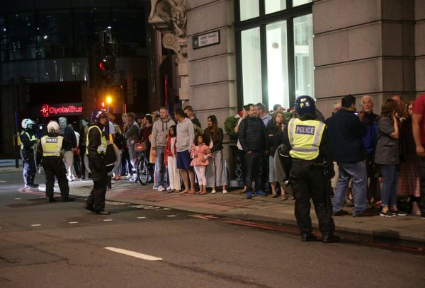 Guests from the Premier Inn Bankside Hotel are evacuated