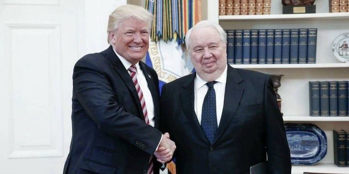 President Trump and Russian Ambassador Sergei Kislyak in the Oval Office, May 10, 2017.
