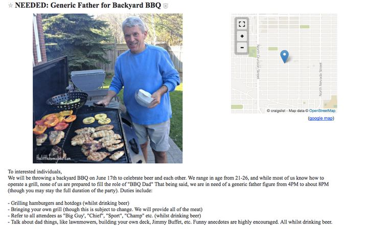 generic dad needed for a bbq in hilarious craigslist ad huffpost