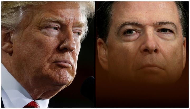 Former FBI Director James Comey, fired by President Donald Trump last month, is scheduled to testify before the Senate Intell