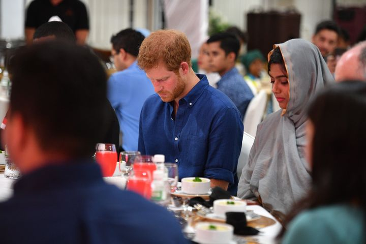 Prince Harry visits Jamiyah Singapore on the first day of a two-day visit to Singapore.