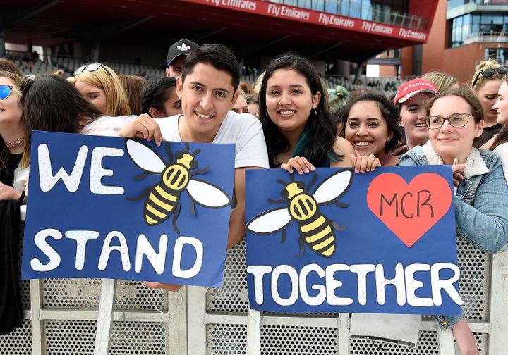 Concert-goers stood together in solidarity