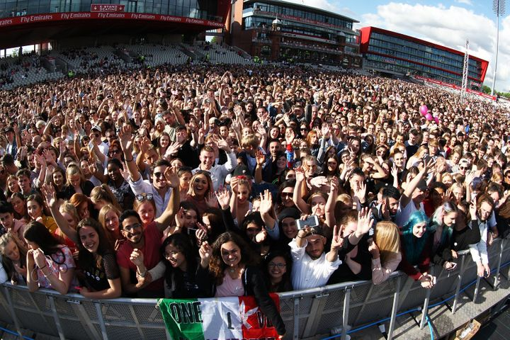 Some 60,000 people are in attendance at the gig