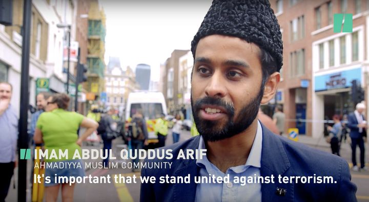 Imam Abdul Quddus Arif from the local Ahmadiyya Muslim community speaks out against Islamic extremism.