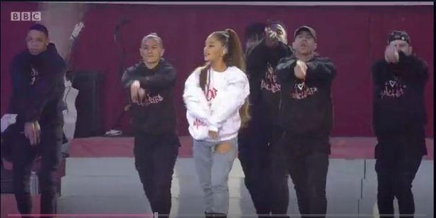 Ariana Grande made a defiant return to the