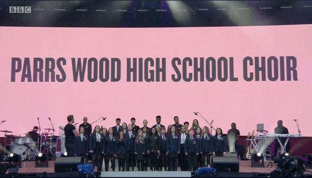 One Love Manchester: Ariana Grande Comforts Parrs Wood High School Choir Member During Emotional Performance...