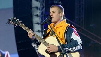 MANCHESTER, ENGLAND - JUNE 04:  Justin Bieber performs on stage during the One Love Manchester Benefit Concert at Old Trafford on June 4, 2017 in Manchester, England.  (Photo by Kevin Mazur/One Love Manchester/Getty Images for One Love Manchester)