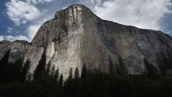 The El Capitan monolith in the Yosemite National Park in California on June 4, 2015.  It is one of America's most popular natural wonders. But even Yosemite National Park cannot escape the drought ravaging California, now in its fourth year and fueling growing concern. At first glance the spectacular beauty of the park with its soaring cliffs and picture-postcard valley floor remains unblemished, still enchanting the millions of tourists who flock the landmark every year. But on closer inspection, the drought's effects are clearly visible.       AFP PHOTO/MARK RALSTON        (Photo credit should read MARK RALSTON/AFP/Getty Images)