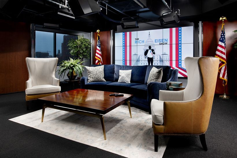 DIRECTV studio designed and styled by Tiffany Brooks, designer and host of HGTV Smart Home