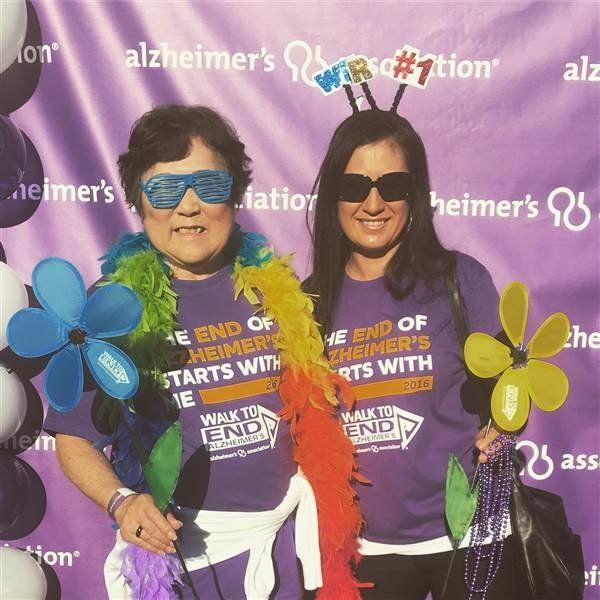 ChristineStone's mom, Setsuko Harmon, has Alzheimer's disease.