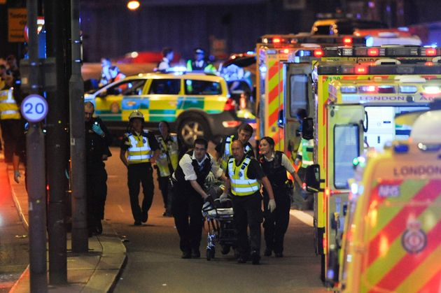 DANIEL SORABJI via Getty Images People have commended police and paramedics for their'heroic work in the wake of the terror attack