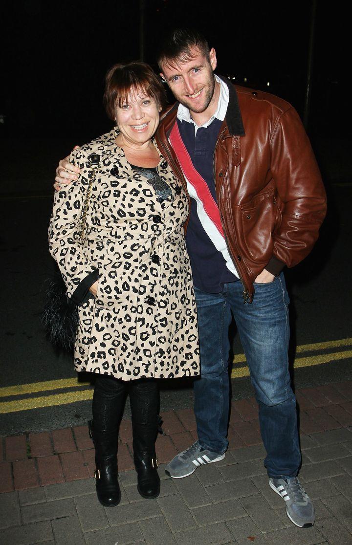 Tina Malone and husband Paul Chase.