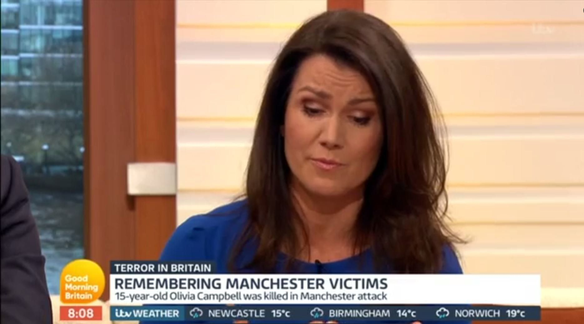 Susanna Reid Chokes Up As Mother Of Manchester Bombing Victim Olivia Campbell Appears On 'Good Morning