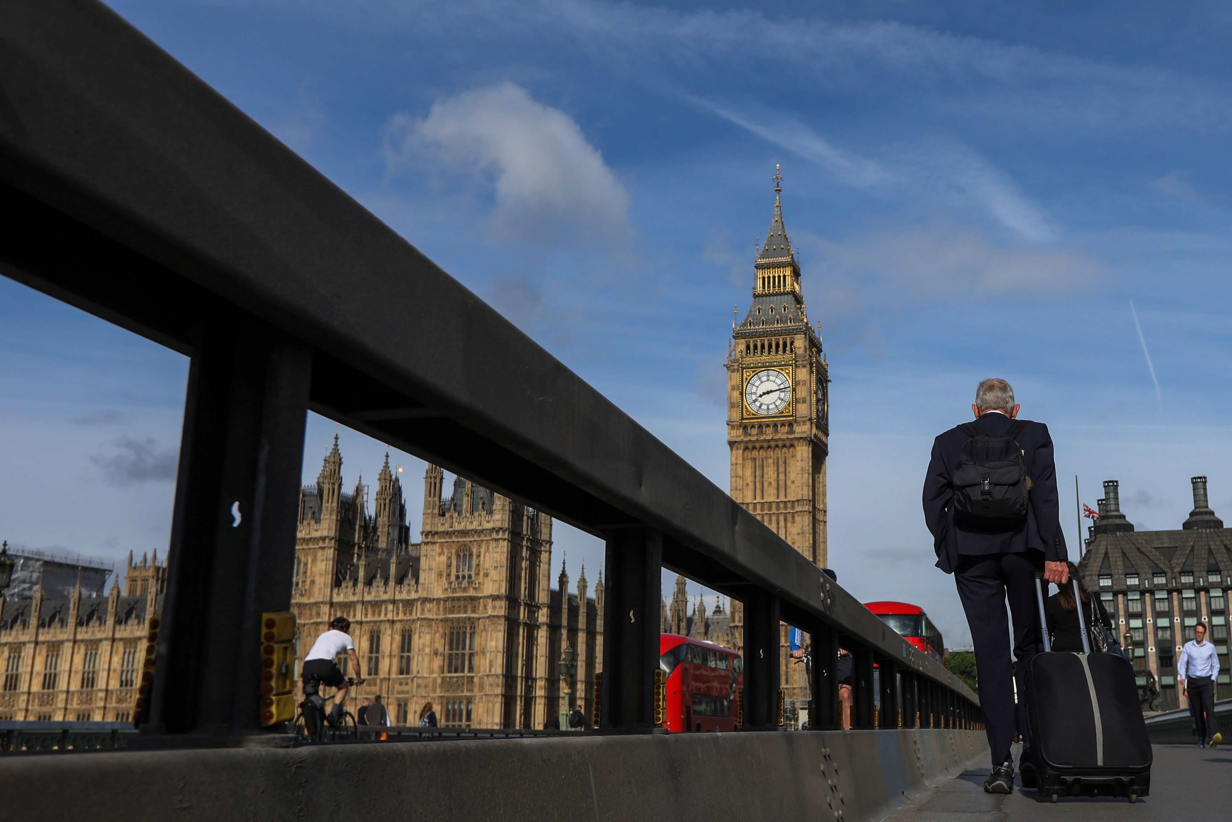 New security barriers have been erected on Westminster Bridge (pictured) as well as Lambeth and Waterloo