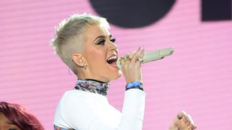 MANCHESTER, ENGLAND - JUNE 04:  Katy Perry performs on stage during the One Love Manchester Benefit Concert at Old Trafford Cricket Ground on June 4, 2017 in Manchester, England.  (Photo by Kevin Mazur/One Love Manchester/Getty Images for One Love Manchester)