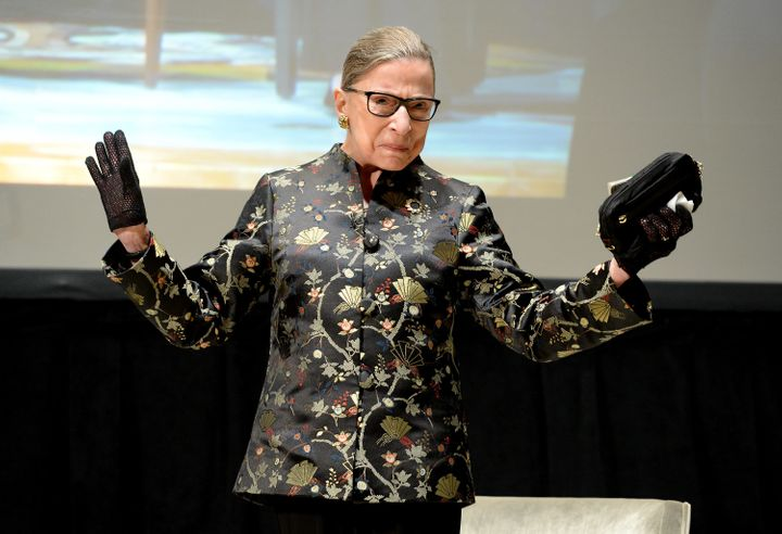 Ginsburg looking undeniably powerful at an appearance in September 2016.