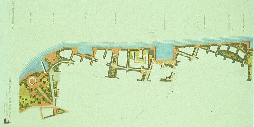 Battery Park City Masterplan, 1979