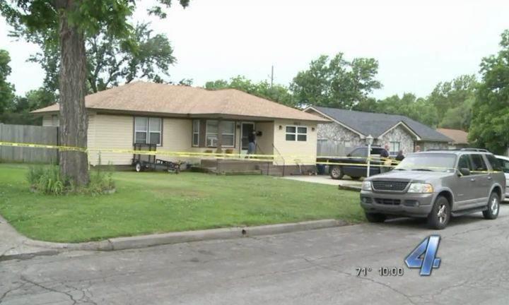 An Oklahoma man was fatally shot after allegedly trying to drown his infant twins on Friday.
