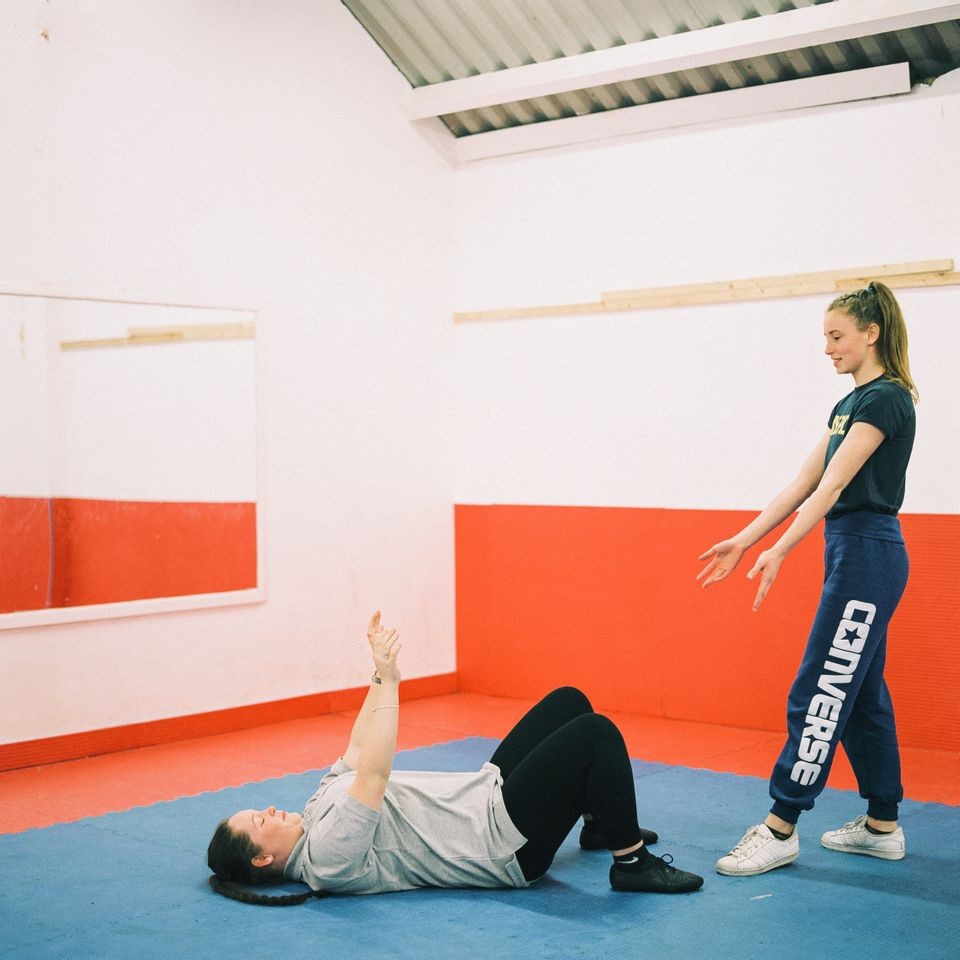 Abigail Collins, 16, and Demi Aldwinckle, 17, at the Tilbury Dance Academy on Jan.