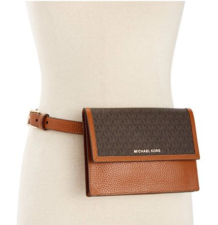 "Buy the <a href=""https://www.macys.com/shop/product/michael-michael-kors-pebble-leather-logo-fanny-pack?ID=3043062&Catego"