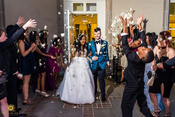 """""""Jennifer and William had a classic wedding at the historic Biltmore Ballrooms in Atlanta, Georgia. Their looks say it all! C"""
