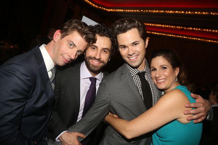 "Uranowitz, second from left, with ""Falsettos"" co-stars Christian Borle, Andrew Rannells and Stephanie J. Block. ""I felt like"