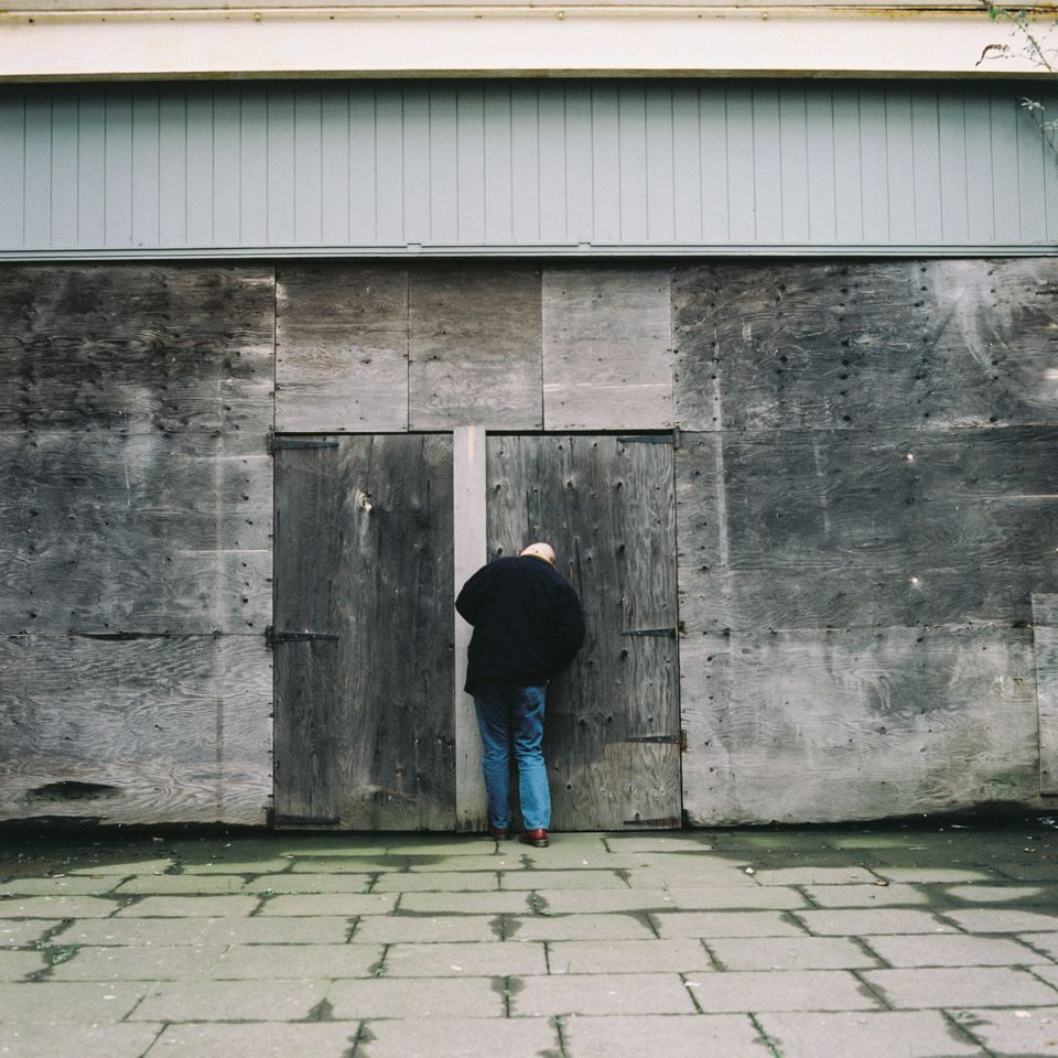 Mick looks around the site of the old Tilbury Riverside railway station on Jan.