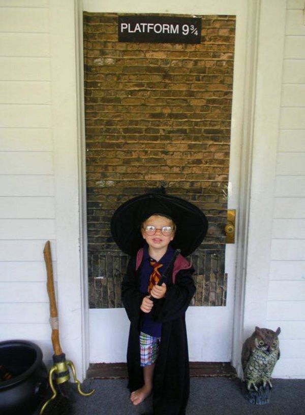 This is from his brother's Harry Potter birthday party a few years ago.