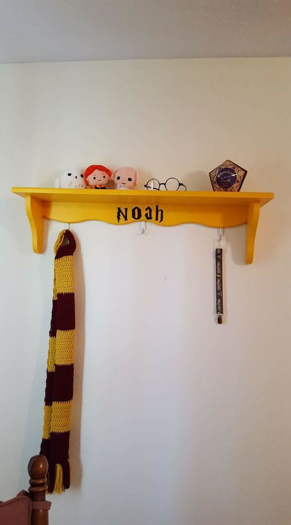 This is just one corner of our Harry Potter-themed nursery. Our little man is due July 30th (hoping he makes an appearance a