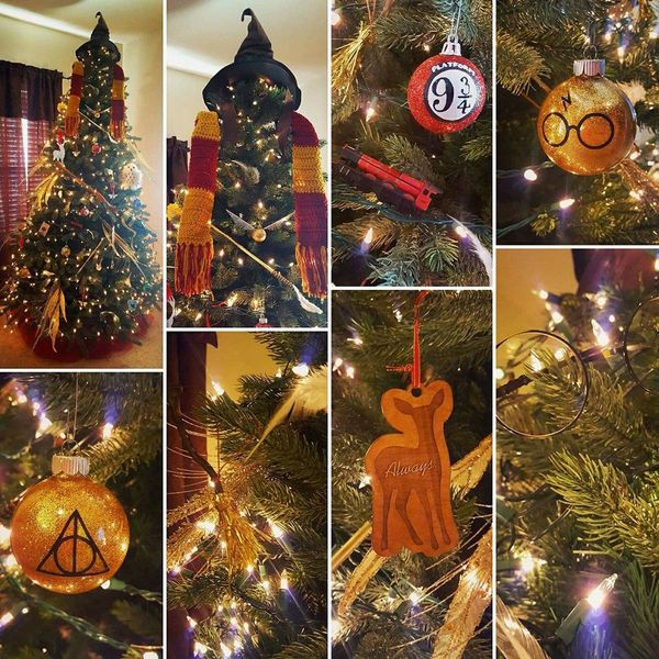 We LOVE Harry Potter! Created our first Harry Potter-themed Christmas tree this year filled with all sorts of things ... my d