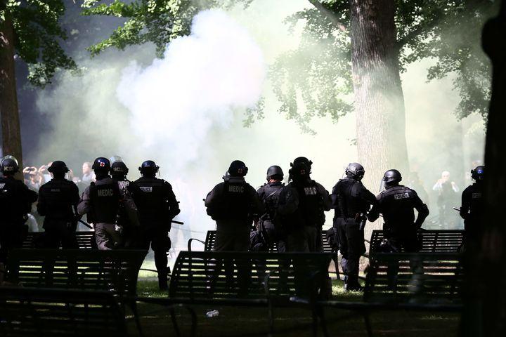 Portland police used tear gas on antifa demonstrators.