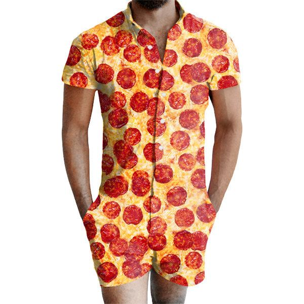 b59a3ebf69e Now Men Can Wear Rompers With Pizza And Paper Cup Patterns ...