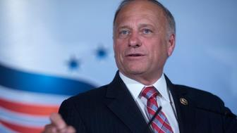 Representative Steve King, a Republican from Iowa, speaks during the Faith and Freedom Coalition's 'Road to Majority' legislative luncheon in Washington, D.C., U.S., on Thursday, June 18, 2015. The annual Faith & Freedom Coalition Policy Conference gives top-tier presidential contenders as well as long shots a chance to compete for the large evangelical Christian base in the crowded Republican primary contest. Photographer: Andrew Harrer/Bloomberg via Getty Images