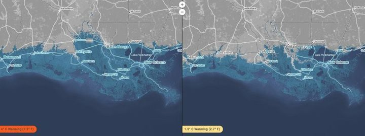<p>A look at the Gulf Coast shows how dire the situation could be for New Orleans were global temperatures continue rising.</p>