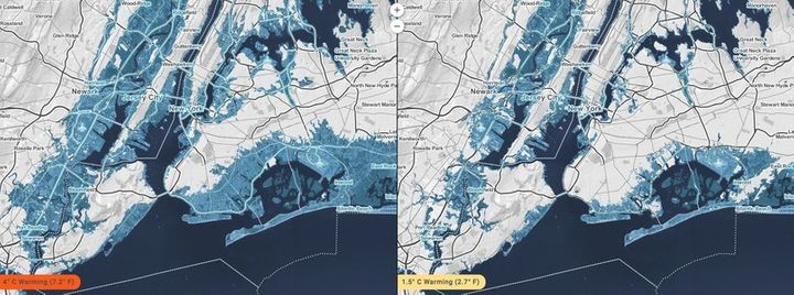 <p>Even without a long coastline, New York City and parts of New Jersey could be subjected to high risks of potential home damage due to severe storm surges.</p>