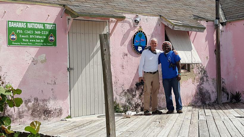 At the Bahamas National Trust office, Andros Island, Bahamas