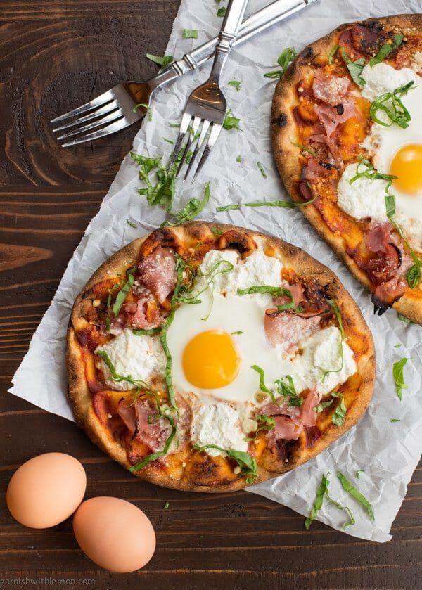 "<strong>Get the <a href=""https://www.garnishwithlemon.com/ham-egg-breakfast-pizza/"" target=""_blank"">Ham and Egg Breakfast Piz"