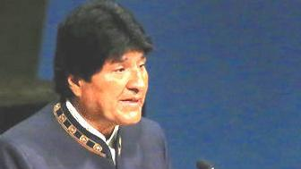 Bolivian President Evo Morales slams the US at the United Nations