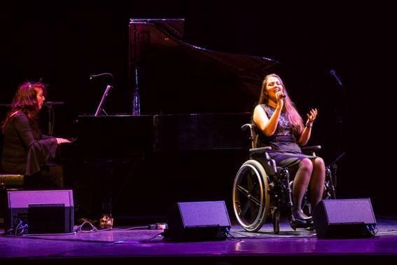 Louise Vd Sande Bakhuyzen (at piano) and Lidewij Boeken (singing)