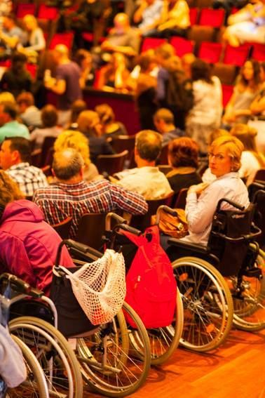 About 800 people filled the historic Royal Carre Theater in Amsterdam, many in wheelchairs, to be part of the annual Lyme dis