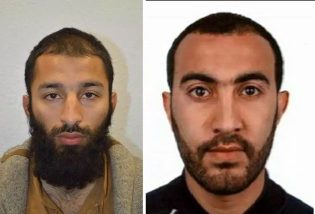 The other two men involved in the attack wereShazad Butt, left, and Rachid
