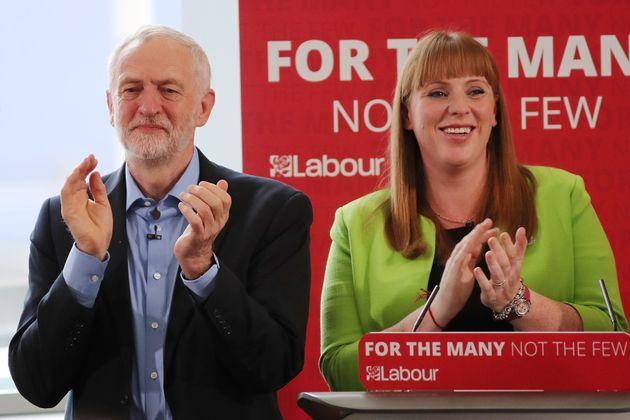 Jeremy Corbyn and Shadow Education Secretary Angela