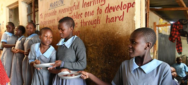 Senior class in Nairobi, Kenya. In many countries with IMF-supported programs public spending on education grew significantly