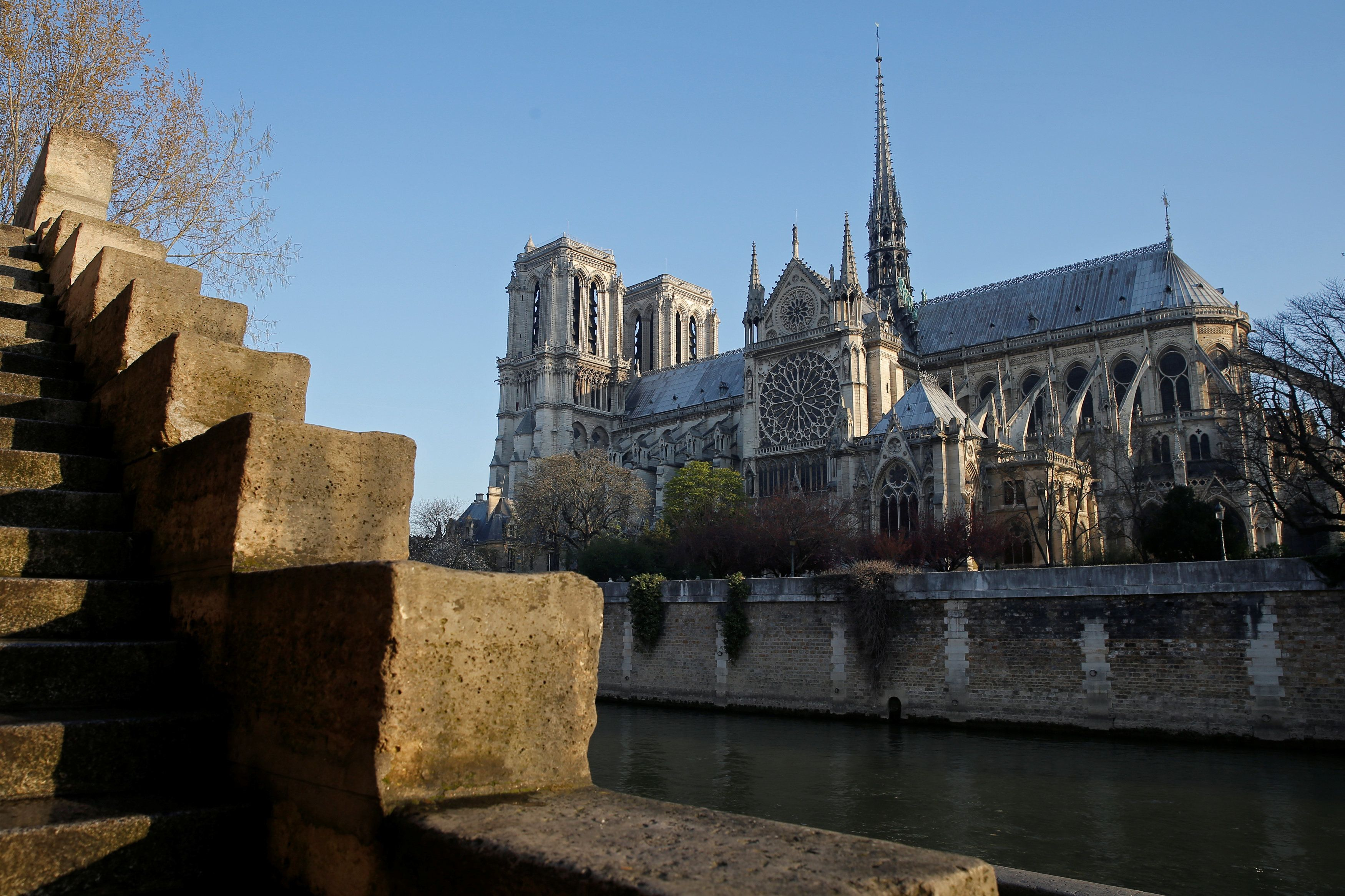 Notre Dame Panic As Man Shot After Trying To Attack Police With A