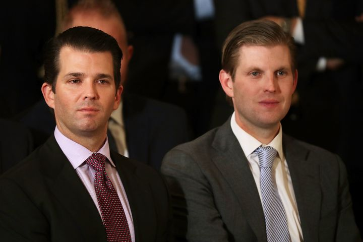 In January, President Trump placed his eldest sons, Eric (R) and Donald Trump Jr. (L), in charge of the multi-billion dollar