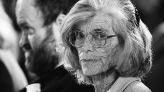 WASHINGTON, UNITED STATES - JANUARY 13: Eunice Kennedy Shriver, sister of the late President and long-time advocate for people with disabilities, attends an event at the White House related to the National Institute on Disability and Rehabilitation on January 13, 1999. (Photo by David Hume Kennerly/Getty Images)